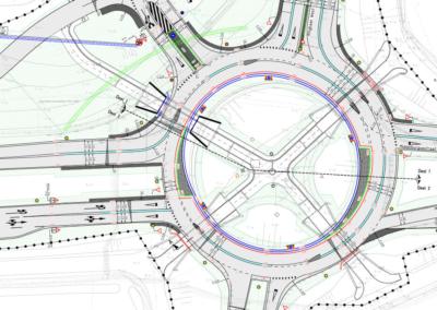 Rotonde Tiendenplein Goes tekening 1